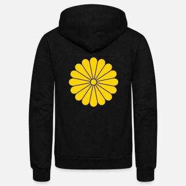 Japan chrysanthemum - Unisex Fleece Zip Hoodie