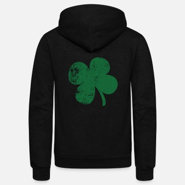 Fourleaf Clover Four Leaf Clover St Patrick s Day - Unisex Fleece Zip Hoodie