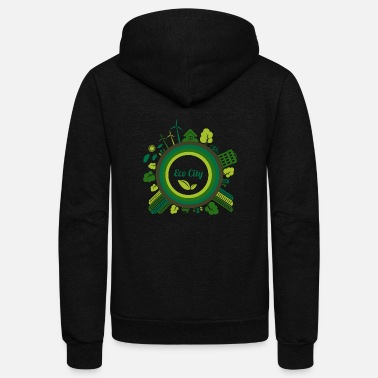 Eco eco city - Unisex Fleece Zip Hoodie
