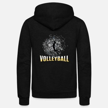 Female Player Volleyball female player - Unisex Fleece Zip Hoodie