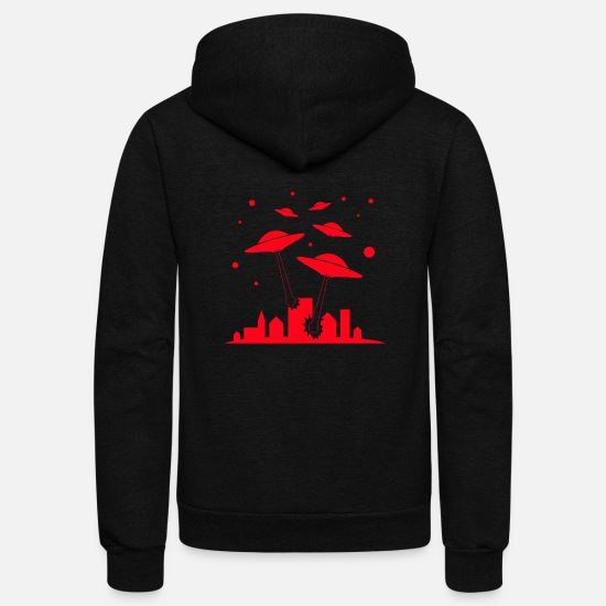 Gift Idea Hoodies & Sweatshirts - Ufo invasion - Unisex Fleece Zip Hoodie black