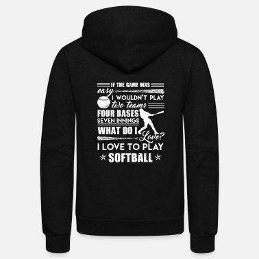 Softball I Love To Play Softball Shirt - Unisex Fleece Zip Hoodie