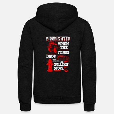 Fighter FIRE FIGHTER SHIRT - Unisex Fleece Zip Hoodie
