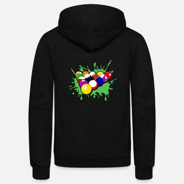Billiard Ball Billiards Tee & Hoodie - Unisex Fleece Zip Hoodie