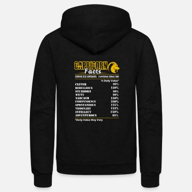 Over Capricorn Facts Tee Shirt - Unisex Fleece Zip Hoodie