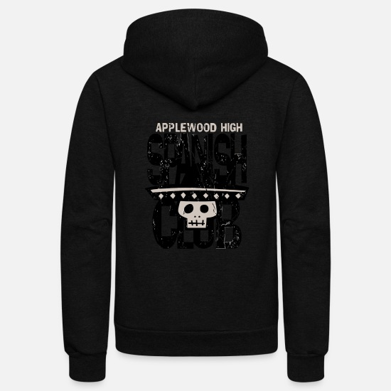 Spanish Hoodies & Sweatshirts - Applewood High Spanish Club - Unisex Fleece Zip Hoodie black