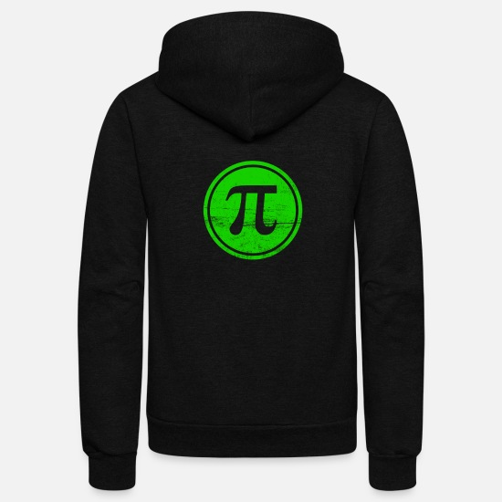 Number Hoodies & Sweatshirts - The Pi Fighters Circle Number - Unisex Fleece Zip Hoodie black