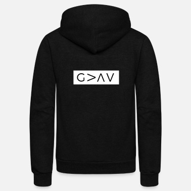Freak God Is Greater Than The Highs And Lows - Unisex Fleece Zip Hoodie