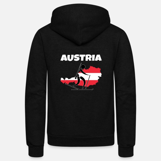 Austria Hoodies & Sweatshirts - Biathlon Austria - Unisex Fleece Zip Hoodie black