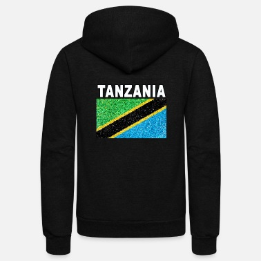 Tanzania tanzania stained glass effect design - Unisex Fleece Zip Hoodie