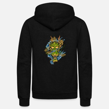 Art Japanese Dragon - Unisex Fleece Zip Hoodie