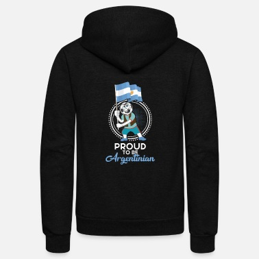 Argentina Proud to be Argentinian FootballGift - Unisex Fleece Zip Hoodie