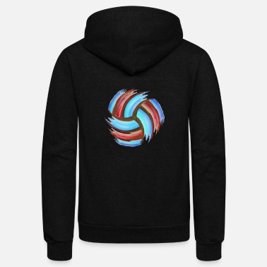 Volleyball Setter Volleyball Beach - Unisex Fleece Zip Hoodie