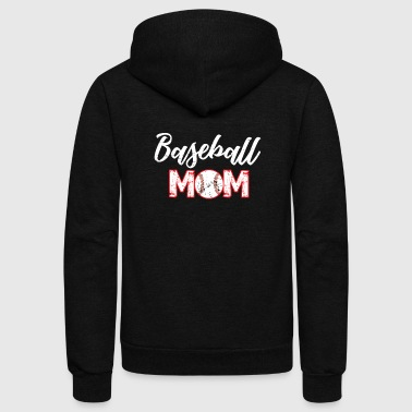 baseball mom - Unisex Fleece Zip Hoodie