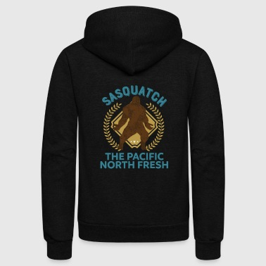 Sasquatch Pacific North Fresh PNW Bigfoot T-Shirt - Unisex Fleece Zip Hoodie