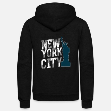 Nyc New York City NYC Statue of Liberty Design - Unisex Fleece Zip Hoodie