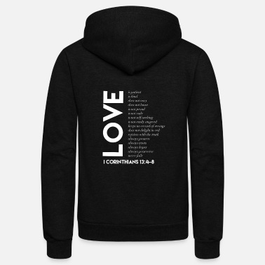 Christian Love Is Christian Design Gifts for Christians - Unisex Fleece Zip Hoodie