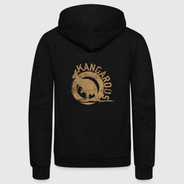Kangaroo Animal Australia Backpacker Marsupial Sun - Unisex Fleece Zip Hoodie
