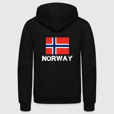 Norway National Pride Norwegian Flag Design - Unisex Fleece Zip Hoodie