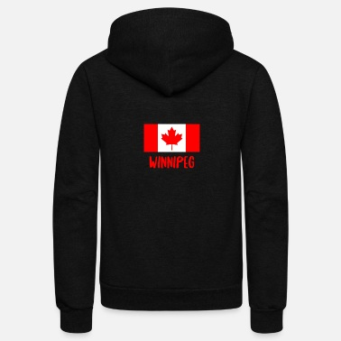 Province Winnipeg Canada Flag T-Shirt - Canadian Province - Unisex Fleece Zip Hoodie