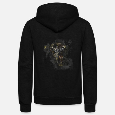 Tiger Vintage Tiger Sketch Art - Unisex Fleece Zip Hoodie