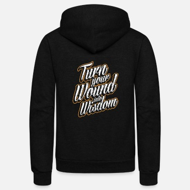 Turn Happy Luck Positive Motivation Love Freedom Gift - Unisex Fleece Zip Hoodie
