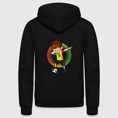 Football Soccer Dab Senegal - Unisex Fleece Zip Hoodie
