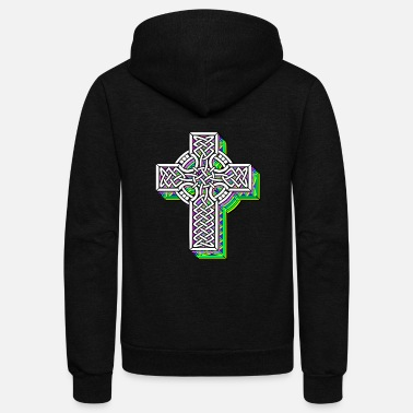 Celtic Cross Cross celtic knots - Unisex Fleece Zip Hoodie