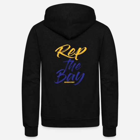 Bay Hoodies & Sweatshirts - Rep The Bay Golden State - Unisex Fleece Zip Hoodie black