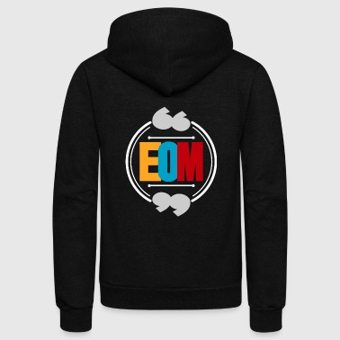 EOM abbreviation colored gift idea - Unisex Fleece Zip Hoodie