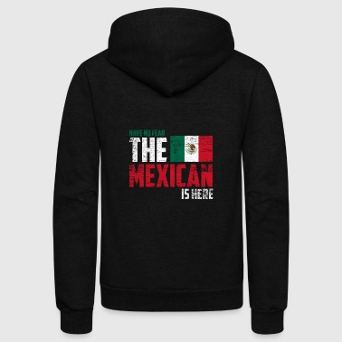 Have no fear the Mexican is here - Unisex Fleece Zip Hoodie