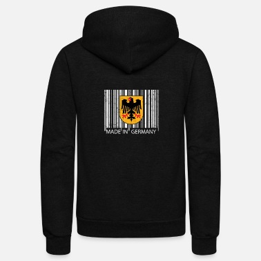 Germany Made in German Germany Flag Bar code - Unisex Fleece Zip Hoodie
