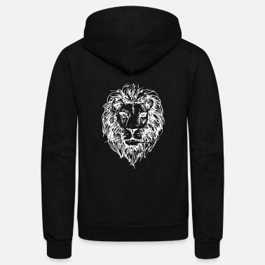 Lion Lion Head - Unisex Fleece Zip Hoodie