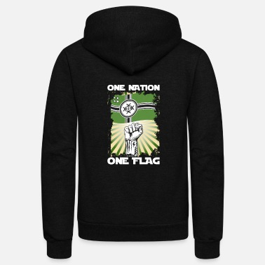 Pepe One Nation One Flag Kekistan - Unisex Fleece Zip Hoodie