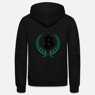 Wreath bitcoin wreath - Unisex Fleece Zip Hoodie