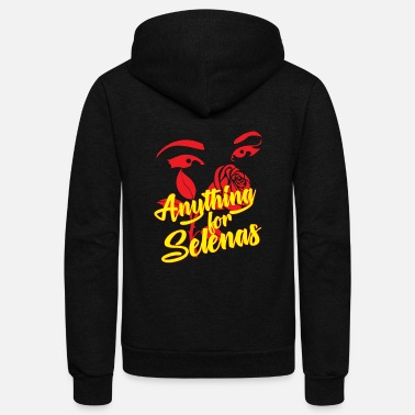 Selena Funny Gift for Spanish Teachers – Anything for Selenas - Unisex Fleece Zip Hoodie