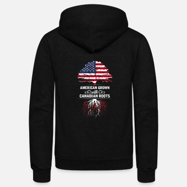 Roots Canada Toronto America Roots Canada Flag Born Nation - Unisex Fleece Zip Hoodie