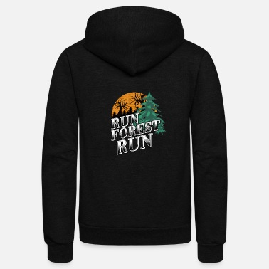 Run Forest Run - Unisex Fleece Zip Hoodie