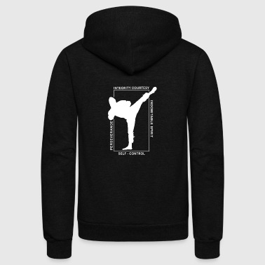 Taekwondo Shirt Martial Arts MMA 5 Tenants T Shirt - Unisex Fleece Zip Hoodie