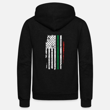 Italy Italy USA flag - Unisex Fleece Zip Hoodie