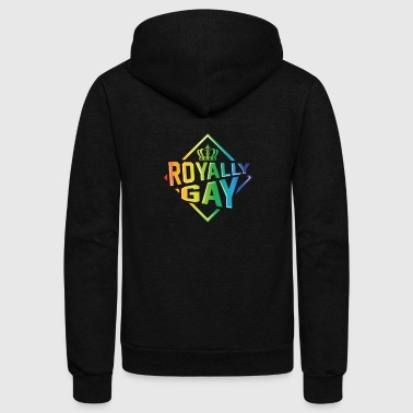 Royally Gay Love Live Proudly LGBT - Unisex Fleece Zip Hoodie