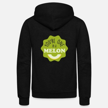 Fruit fruits Melon You're one in a Melon Funny - Unisex Fleece Zip Hoodie
