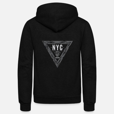 Nyc Vintage NYC New York City Graphic Print - Unisex Fleece Zip Hoodie