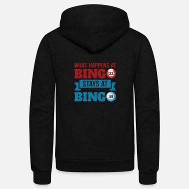 Bingo What happens At Bingo Stays At Bingo - Unisex Fleece Zip Hoodie