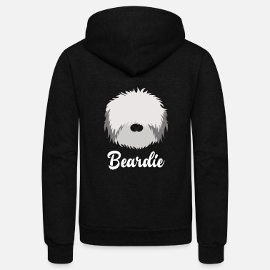 Bearded Collie Beardie - Bearded Collie - Unisex Fleece Zip Hoodie