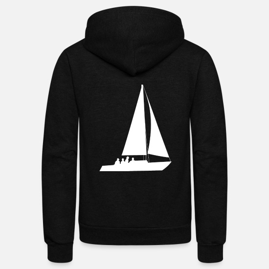 Sailboat Hoodies & Sweatshirts - Sailing Sailboat Water Sports - Unisex Fleece Zip Hoodie black