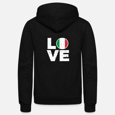 Italy I love Italy Gift Italian People Men Women Kids - Unisex Fleece Zip Hoodie