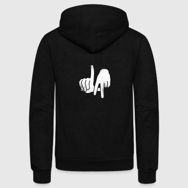 Los Angeles Los Angeles Handsign - Total Basics - Unisex Fleece Zip Hoodie