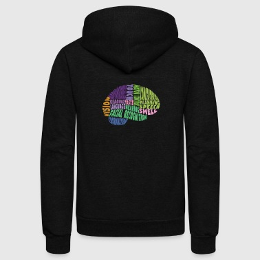 Regions of the brain - Unisex Fleece Zip Hoodie