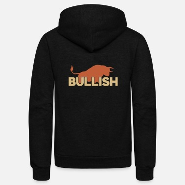 Stock Market Bull Market Gift for Trade Lovers Stock Market - Unisex Fleece Zip Hoodie